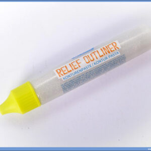 Kontur pasta - boja za staklo 32ml SREBRNA GLITTER, Junior