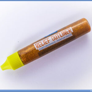 Kontur pasta - boja za staklo 32ml ZLATNA GLITTER, Junior