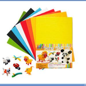 Rebrasti karton papir A4 1/8 jarke boje, Hachi