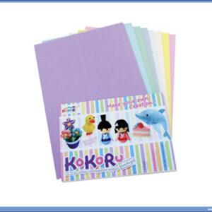 Rebrasti karton papir A4 1/8 pastelne boje, Hachigo