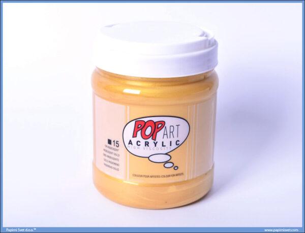 Akrilna boja Gold Zlatna 15, 700ml, Pop Art