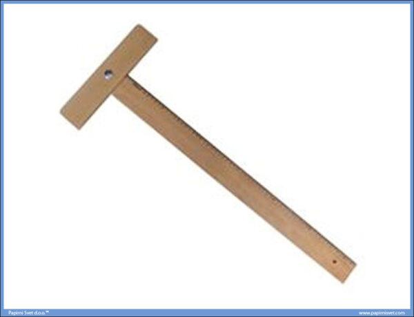 T-lenjir drveni 75cm T-75