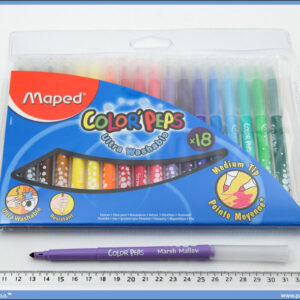 Flomasteri ultrawashable 1/18, Maped