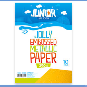 Metalik papir ŽUTI reljefni Jolly Embossed 250gr A4 1/10, Junior