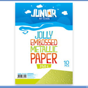 Metalik papir ZELENI reljefni Jolly Embossed 250gr A4 1/10, Junior