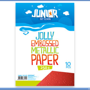 Metalik papir CRVENI reljefni Jolly Embossed 250gr A4 1/10, Junior