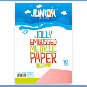 Metalik papir ROZE reljefni Jolly Embossed 250gr A4 1/10, Junior