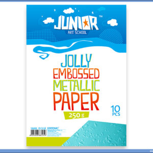 Metalik papir PLAVI reljefni Jolly Embossed 250gr A4 1/10, Junior