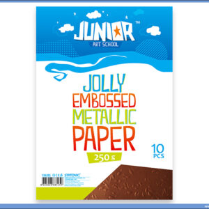 Metalik papir BRAON reljefni Jolly Embossed 250gr A4 1/10, Junior