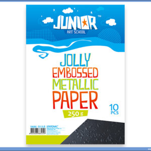 Metalik papir CRNI reljefni Jolly Embossed 250gr A4 1/10, Junior