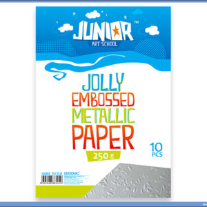 Metalik papir SREBRNI reljefni Jolly Embossed 250gr A4 1/10, Junior