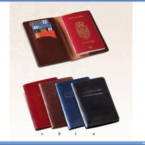 Kožna futrola za pasoš i kartice PRINCE LEATHER HANDMADE