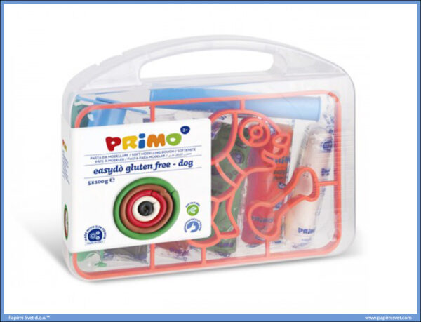 Kofer sa plastelinom 5 boja 100gr + alat za modeliranje PAS, Primo