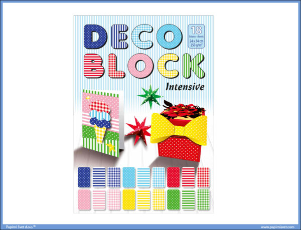 DECO BLOK Intesive Karton 250gr/m2 24x34cm 18listova, Optimum