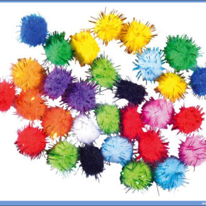 Kreativni pribor Craft Deko Pom Pom glitter, Junior