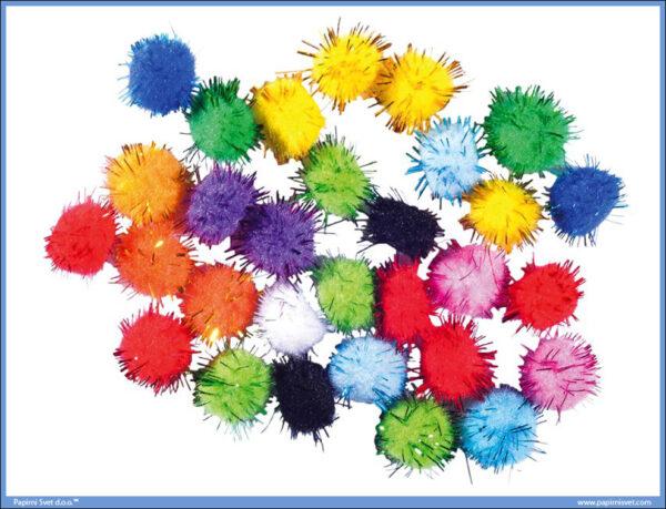 Kreativni pribor Craft Deko Pom Pom glitter, Junior
