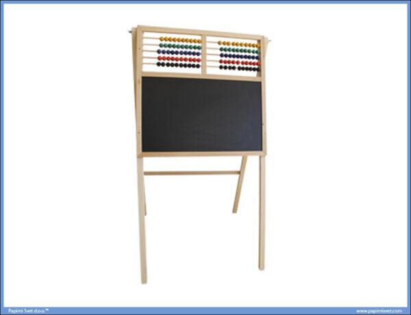 Tabla školska sa postoljem veća 58x37cm plus računaljka CRNA