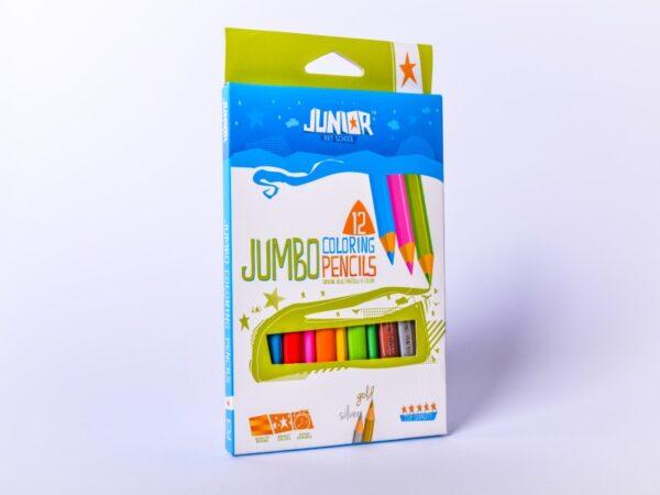 Drvene bojice 1/12 Jumbo coloring pencils, Junior