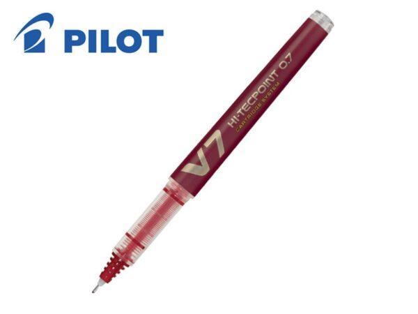 ROLER PILOT V7 HI-TECPOINT 0.7 sa zamenljivom patronom CRVENI