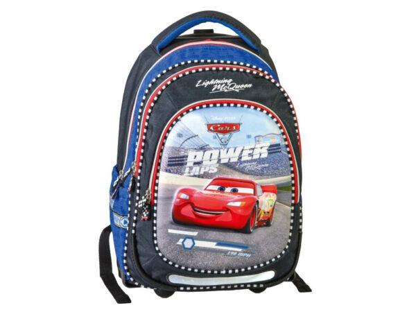 Školska torba-ranac TROLLEY sa točkićima CARS POWER LAP