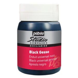 BLACK GESSO STUDIO CRNI Primer 500ml za uljane i akrilne boje, Pebeo