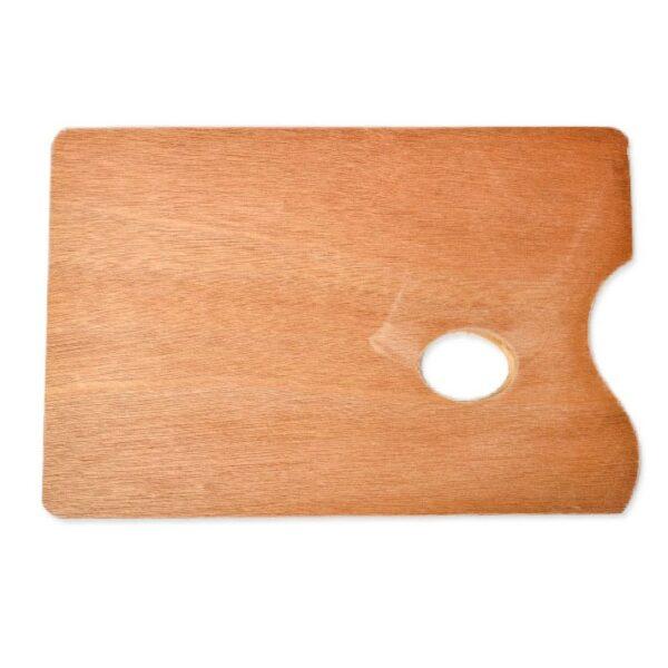 Specifikacije: Kratak opis: Drvena slikarska paleta pravougaonog oblika dimenzije 20 x 30cm sa zaobljenim ivicama i ovalnim otvorom za lakše držanje
