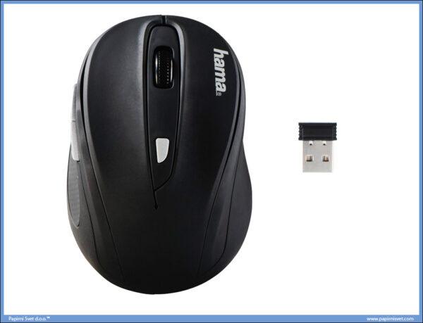 Miš bežični Optički USB AM-8200 crni, HAMA
