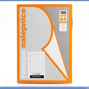 Etikete A4 bele 210x297 1/100, Ramipa