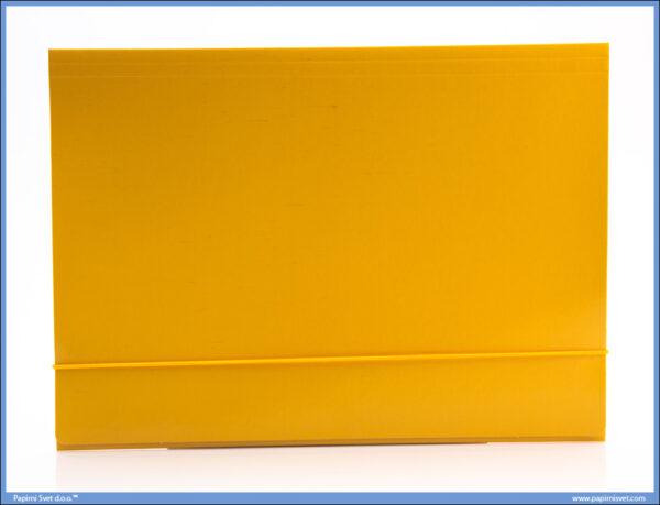 Fascikla kartonska A4 sa gumom žuta