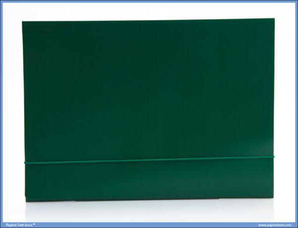 Fascikla A4 sa gumom zelena