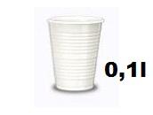 Plastične čaše 0.1l 1/100