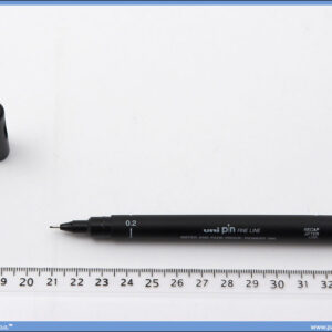 Flomaster 0.2mm crni, Uni