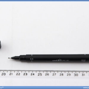 Flomaster 0.5mm crni, Uni