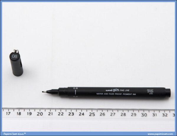Flomaster 0.8mm crni, Uni