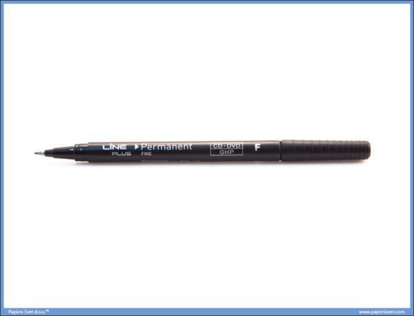 Marker za CD-DVD-OHP CRNI 0.6mm -F-, LINE PLUS