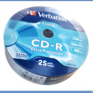 CD-R u celofanu 1/25, Verbatim