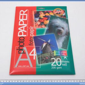 Papir za fotografije glossy 200gsm 1/20, Koh-i-noor