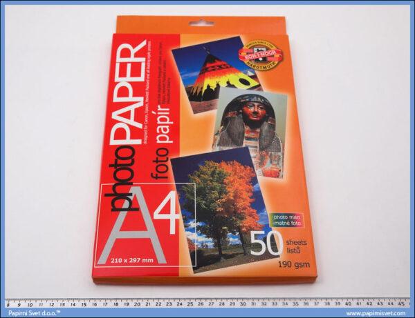 Papir za fotografije matirani 190gsm 1/50, Koh-i-noor