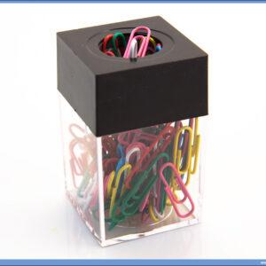 Čaša za spajalice sa magnetom crna, Erich Krause