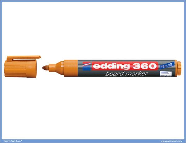 Whiteboard Marker za belu tablu NARANDŽASTI 360, Edding