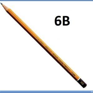 Grafitna olovka 6B HARDTMUTH, KOH-I-NOOR