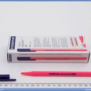 Tekst marker tanki roze, Staedtler