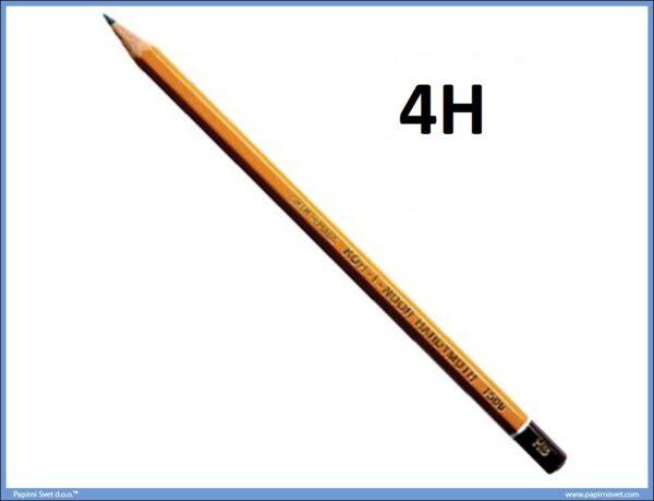 Grafitna olovka 4H HARDTMUTH, KOH-I-NOOR