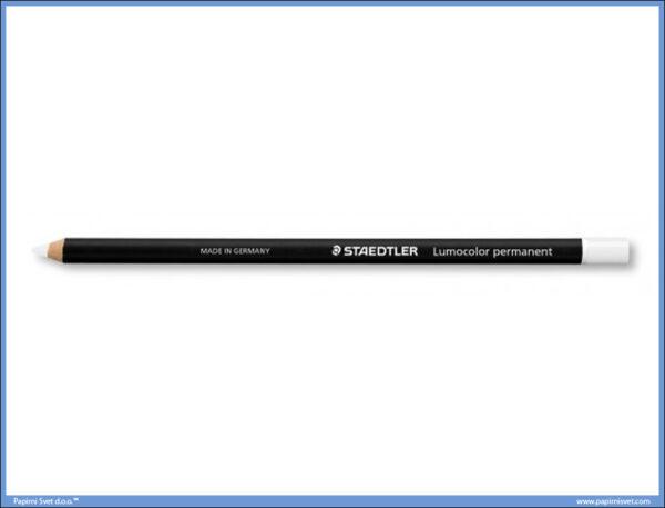 Permanentna drvena olovka bela GLASOCHROM, Staedtler