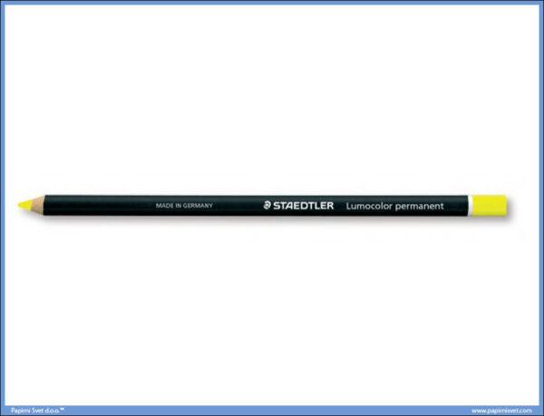 Permanentna olovka žuta GLASOCHROM, Staedtler