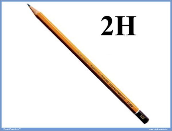 Grafitna olovka 2H HARDTMUTH, KOH-I-NOOR