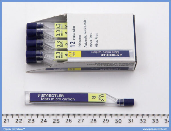 Mine grafitne 0.3mm B, Staedtler