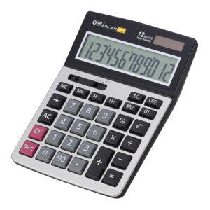 Kalkulator stoni metlano kućište E1671, 12 cifara, DELI