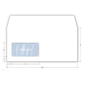Koverte amerikan LEVI PROZOR 1/100 110x230mm