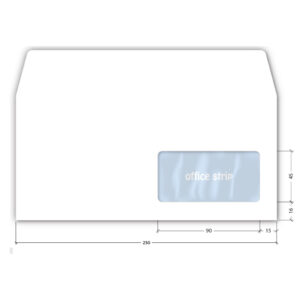 Koverte amerikan DESNI PROZOR 1/100 110x230mm